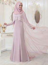 Melek Abiye Elbise - Pudra - Pınar Şems
