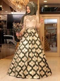 Mihrimah Abiye Elbise - Yeşil - Pınar Şems