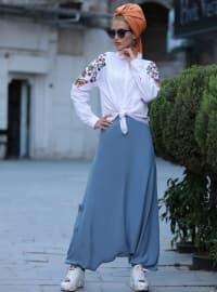 Selma Sarı Design Pantolon Etek - İndigo - Selma Sarı Design