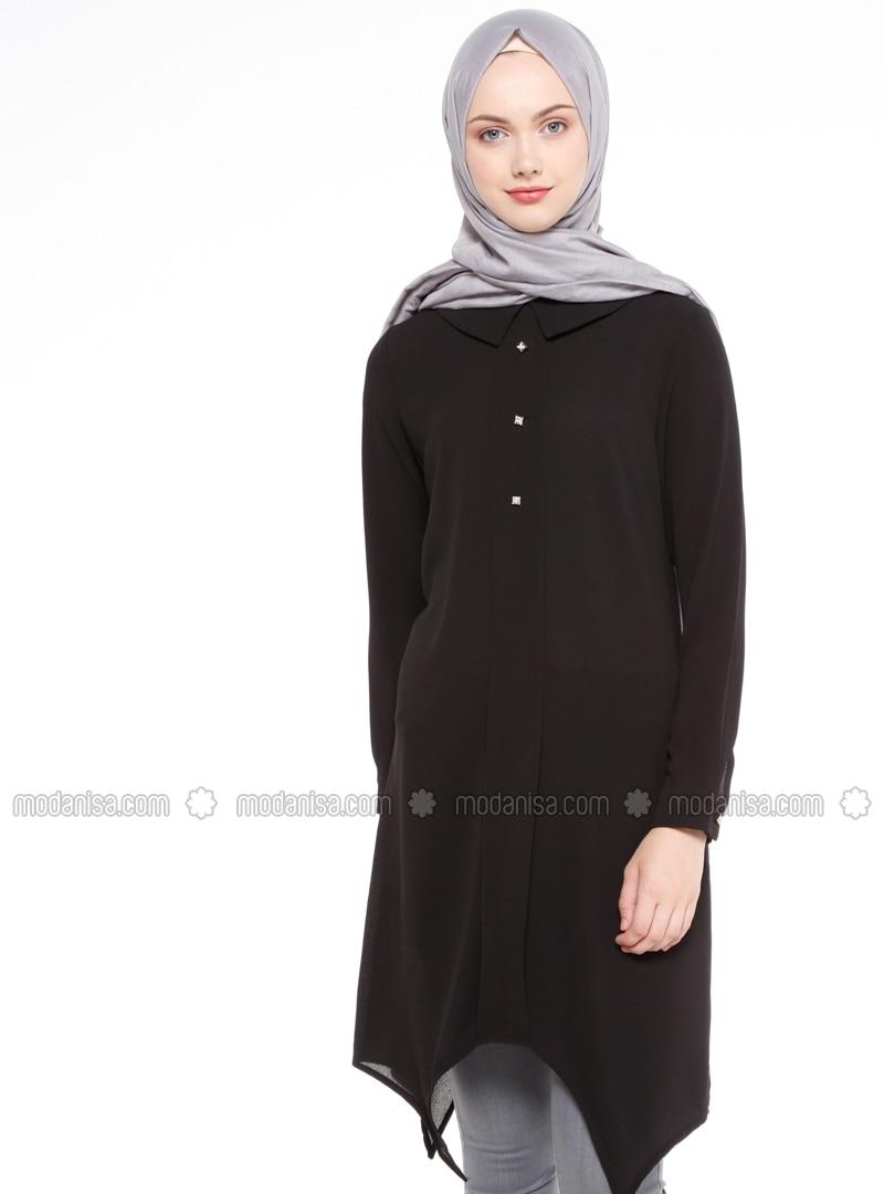 Point Collar - Black - Tunic