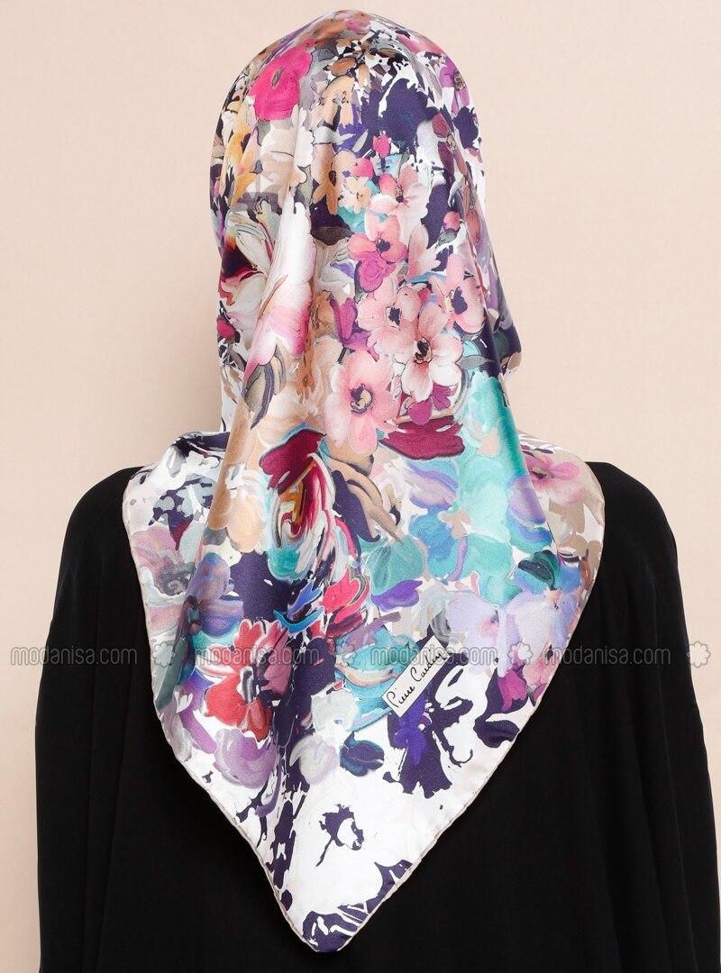multi printed import twill 100 silk scarf