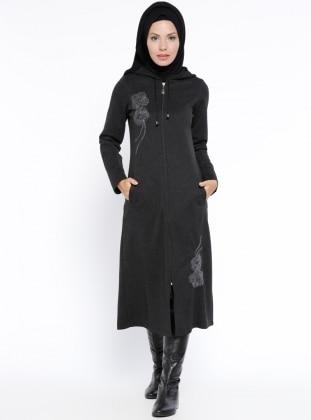 CML Collection Fermuarlı Kap - Siyah