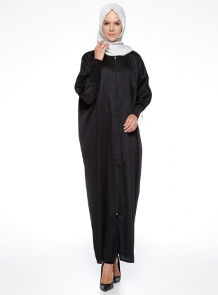 Crew neck - Unlined - Black - Abaya - ModaNaz 330491