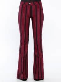 Maroon - Stripe - Pants