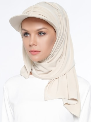 Pinless - Plain - Beige - Instant Scarf