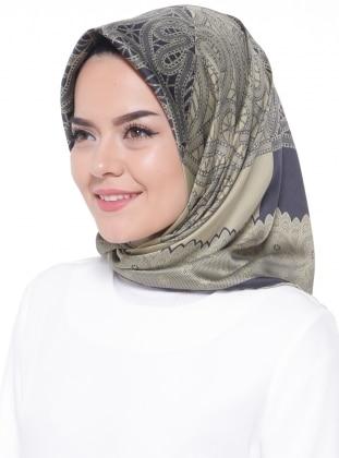 Multi - Khaki - Printed - Rayon - Scarf - Gülsoy