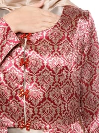 Maroon - Fully Lined - Crew neck - Evening Suit