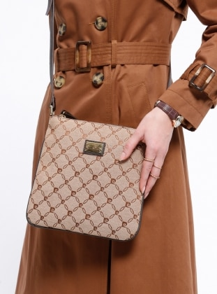 Brown - Crossbody - Bag - Pierre Cardin