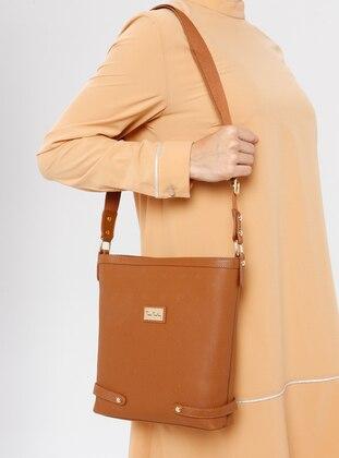 Tan - Crossbody - Bag - Pierre Cardin
