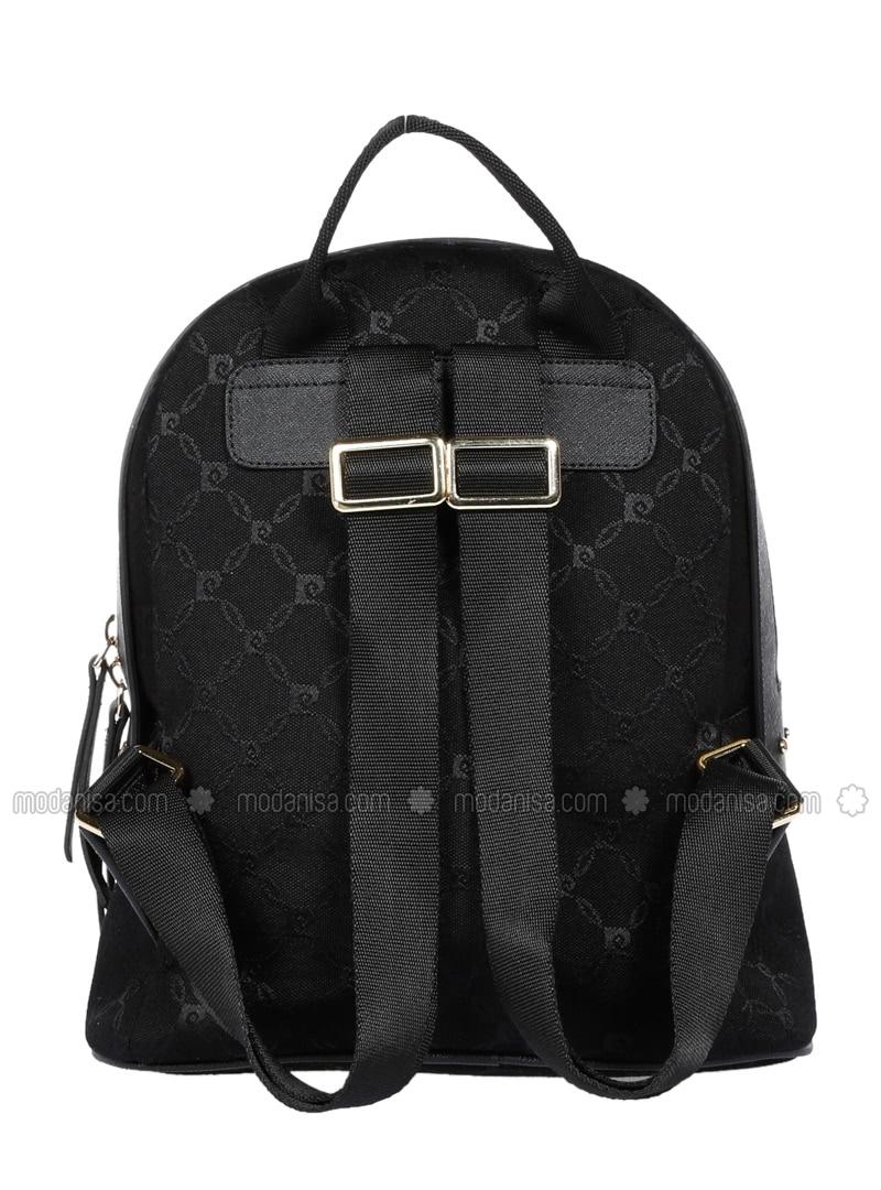 Black - Backpack - Bag - Pierre Cardin