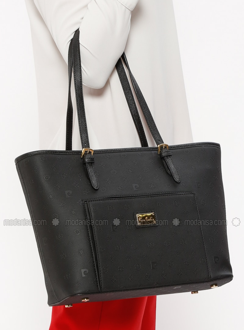 ae964f8f4016a Black - Satchel - Bag - Pierre Cardin