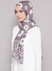 Gray - Multi - Floral - Shawl