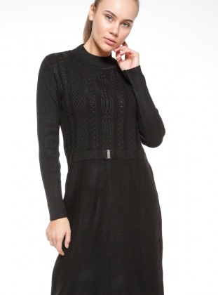 Black - Polo neck - Dresses