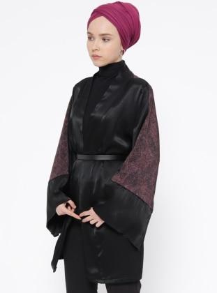 Black – Pink – Multi – Cardigan – Meys