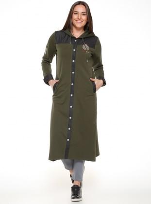 Unlined - Khaki - Plus Size Coat