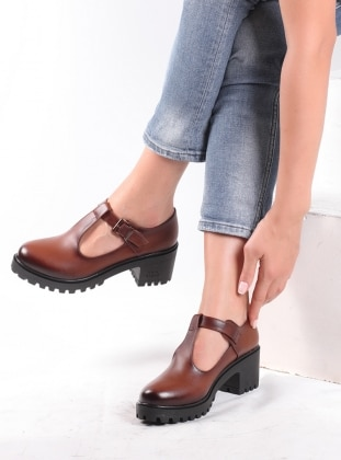 ayakkabı - taba - pembe potin