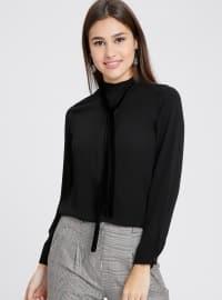 Gizli Düğme Detaylı Bluz - Siyah - Koton
