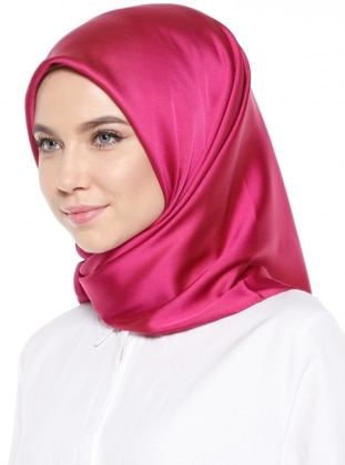 Pink - Plain - Rayon - Scarf