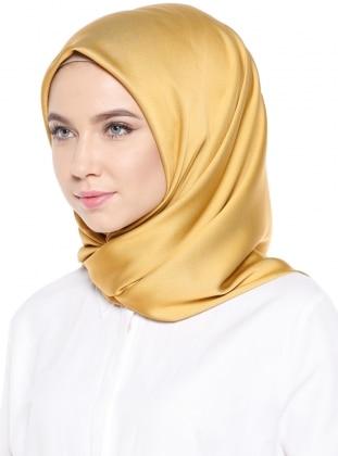 Gold - Plain - Rayon - Scarf