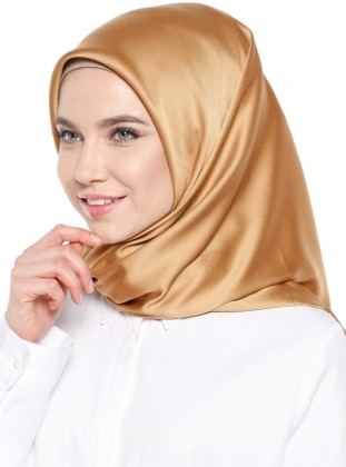 Yellow - Plain - Rayon - Scarf