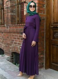 Piliseli Elbise - Mürdüm - İnşirah