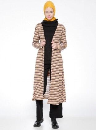 Brown - Stripe - Cardigan