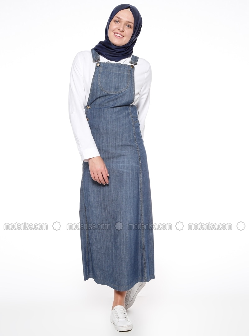 Bleu - Tissu non doublé - Coton - Jean - Robe 9bc5a96e595