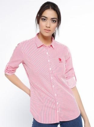 Çizgili Gömlek - Pembe - U.S. Polo Assn. Ürün Resmi