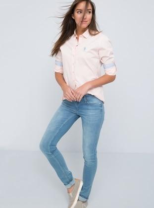 Desenli Gömlek - Açık Somon - U.S. Polo Assn. Ürün Resmi