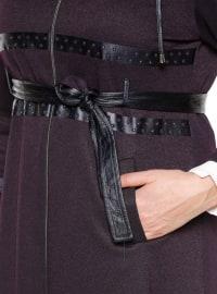 Purple - Unlined - Plus Size Coat