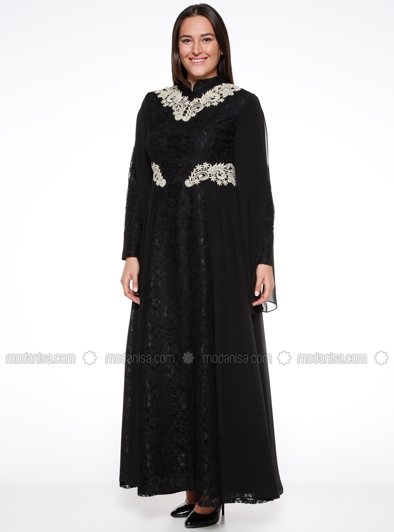 Noir tissu double col chinois robe grande taille for Robe col chinois