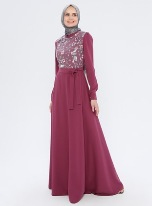 Dusty Rose - Crew neck - Fully Lined - Dress