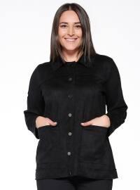 Süet Ceket - Siyah - RMG