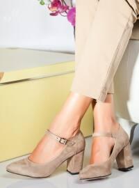 Topuklu Ayakkabı - Bej - Ayakkabı Havuzu