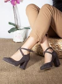 Topuklu Ayakkabı - Gri - Ayakkabı Havuzu
