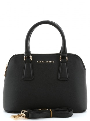 Black - Satchel - Bag - Laura Ashley