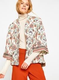 Desenli Ceket - Bej Turuncu - Koton