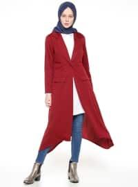 Uzun Ceket - Bordo - Bislife