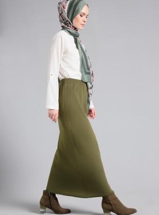 Khaki - Unlined - Skirt - Refka