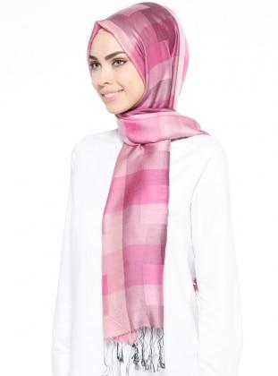 Pink - Plaid - Shawl