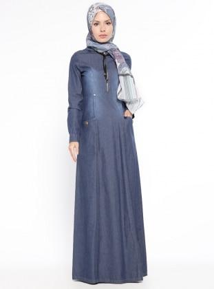 Robe longue en jean hijab