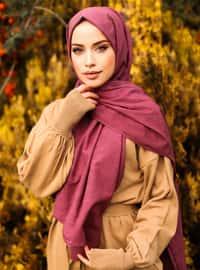 Purple - Plain - Cotton - Shawl - Şal