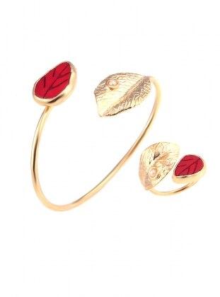 Handmade_Art Sahmaran - Altın Sarı Kırmızı