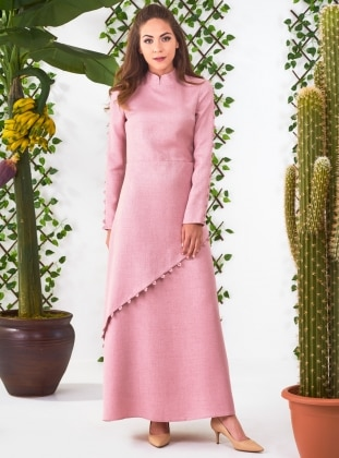 Powder - Crew neck - Fully Lined - Dresses - Minel Ask 346753