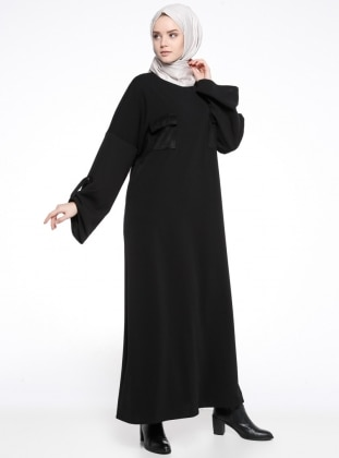 Cep Detaylı Elbise - Siyah - Neways Ürün Resmi