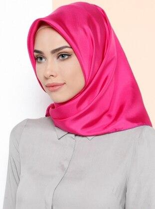 %100 Silk – Plain – Pink – Scarf – Kayra Esarp