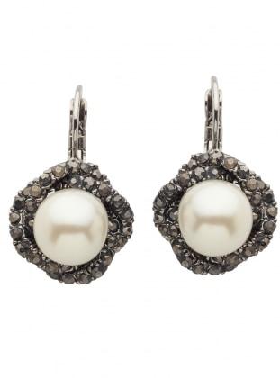 Anthracite - Gray - Ecru - Earring