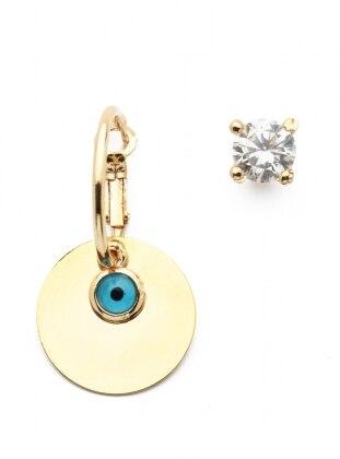Blue - Gold - Earring