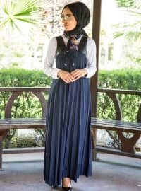 Kolsuz Elbise - Lacivert - İnşirah