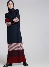 Triko Elbise - Mürdüm - Benin